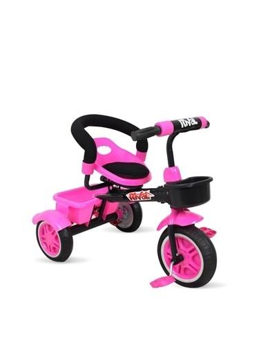 Rival Rv502 Plus 3 Tekerli Çocuk Bisikleti Eva Dolgu, Patlamaz Ses Yapmaz Çocuk Bisikleti Pembe